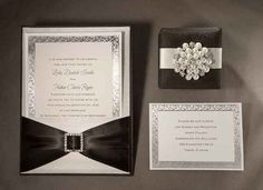 Custom Wedding Invitations for Black & White Theme Designed by Zuri Concepts - mazelmoments.com