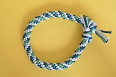 4 color Kumihimo Braided Cord Bracelet
