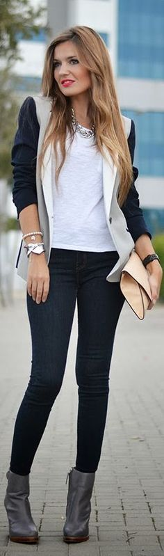 #Mixed #Blazer by Mi Aventura Con La Moda
