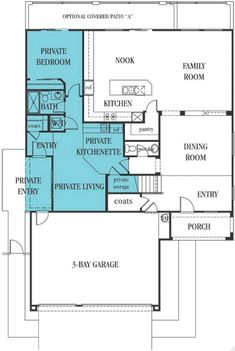 Floor Plan For Multi generational Living In One House Future Ideas Pinterest