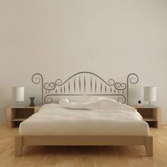 adesivo de parede imitando cama de ferro - Pesquisa Google Faux Headboard, Diy Headboards, Bedroom Inspo, Bedroom Colors, Funny Wall Art, Teenage Room, Dream Apartment, Bed Frame, Room Inspiration