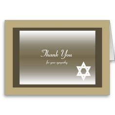 This classic Jewish Sympathy Thank You Note Card features a Star of David. Sympathy Thank You Notes, Funeral Thank You Notes, Thank You Greeting Cards, Thank You Greetings, Thank You Note Cards, Custom Thank You Cards, Thank You Card Template, Paper Texture, Smudging