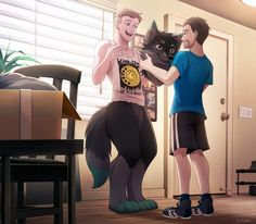 Cute Couple Art, Cute Couples, Yiff Furry, Character Art, Character Design, Bow Art, Furry Oc, Animal Illustrations, Fantasy Art