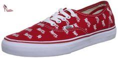 Vans Authentic Sneakers Love Me x Vans/Red, Red, 4 - Chaussures vans (*Partner-Link)