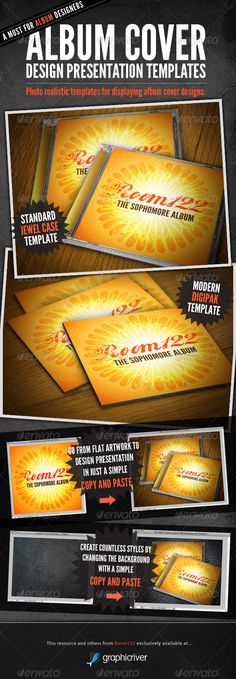GraphicRiver - Album Cover CD Mock-Ups » Vector, Photoshop PSDAfter Effects, Tutorials, Template, 3D,
