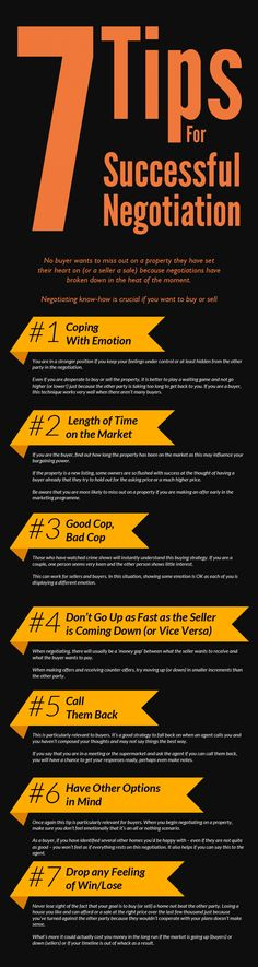 7 Tips For Successful Negotiation Infographic