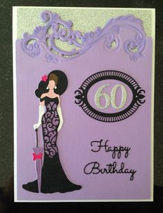 60th Birthday Tattered Lace Mary