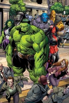 Incredible Hulks Hulk, Red She-Hulk, and She-Hulk by Paul Pelletier Marvel Comics Poster - 61 x 91 cm Hulk Marvel, Marvel Dc Comics, Marvel 616, Comics Anime, Hulk Comic, Marvel Comic Universe, Marvel Heroes, Hulk Avengers, Marvel Comic Character