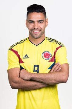 Radamel Falcao of Colombia poses for a portrait during the official FIFA World Cup 2018 portrait session at Kazan Ski Resort on June 13 2018 in Kazan. Carlos Valderrama, Fifa World Cup 2018, James Rodriguez, Poses, Soccer Players, Ronaldo, Polo Ralph Lauren, Football, Russia