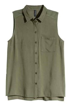 Sleeveless viscose blouse