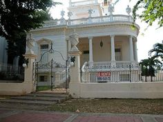 A renovated Mexican mansion on Merida's Paseo de Montejo for lease.