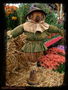 CraBBy GaBBy Primitive Loveable Scarecrow by CraBByGaBByDolls