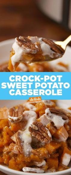 Crock-Pot Sweet Potato Casserole - Delish.com