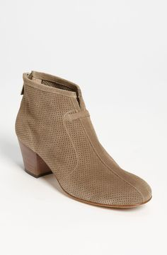 Will pair these perforate suede booties with skinny jeans.