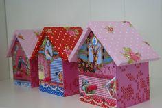 Vogelhuisjes in de stijl van Pip Studio. Gemaakt door Fleurig.
