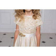 Платье для девочки (золотистое)
