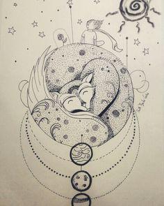 The little prince, o Pequeno Príncipe - drawing- by Ruth Brito