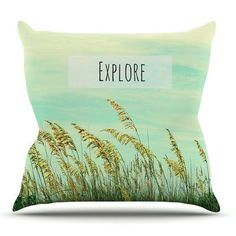 KESS InHouse Explore by Robin Dickinson Outdoor Throw Pillow