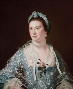 1750s - Hon Mrs Boyle by Joseph Wright of Derby