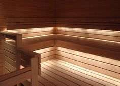 Sauna Linear Set valaistus Sauna Lights, Indoor Sauna, Portable Sauna, Traditional Saunas, Sauna Design, Finnish Sauna, Spa Rooms, Steam Room, Interior Lighting