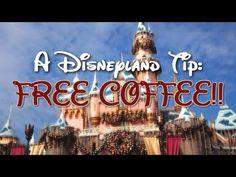 HOW TO GET FREE COFFEE AT DISNEYLAND (video) - A Disneyland Tip http://www.youtube.com/watch/?v=JwKwEq-BvIs