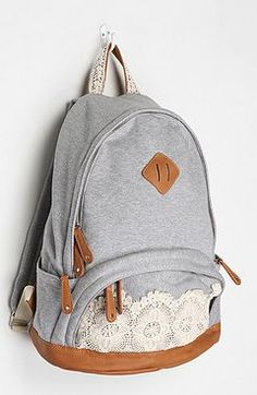 lace backpack :) want!