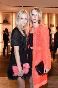 Ginta Lapina Daria Strokus Fendi Party Ginta Lapina, Red Carpet Party, Photo Report, Front Row, The Row, Fendi, Milan, Sari, Parties