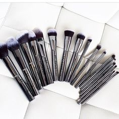 Gun Metal Brushes! aren't they beautiful shop the collection on www.morphebrushes.com✨✨ #morphe #morphebrushes