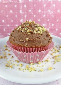 Banana Cupcakes with Nutella Frosting by ~CinnamonGirl, via Flickr