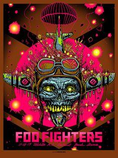 Foo Fighters Wichita Print By Munk One
