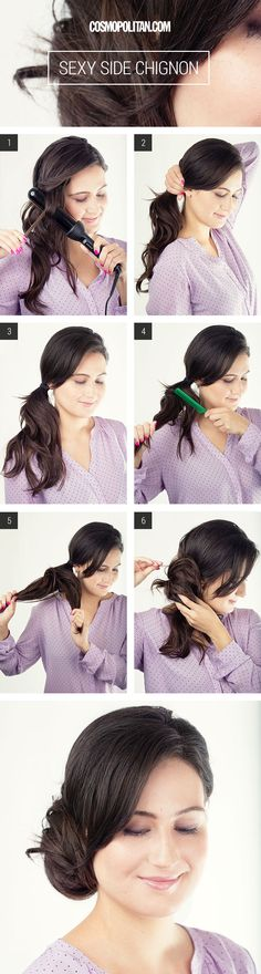 Try this sexy side chignon