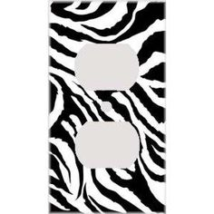 Zebra print outlet covers a total want but not exactly for every room. I wouldn't like to see it in the family, dining, kitchen, or bathroom. But in a bedroom with the right wall colors it could look great