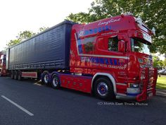 They didn't make many of the iconic Scania Longline, but there are still plenty about. This one works in the UK's Stuart Nicol Transport fleet