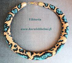 Koralek – lasihelmet ja korutarvikkeet : Viktorian virkattu kaulakoru