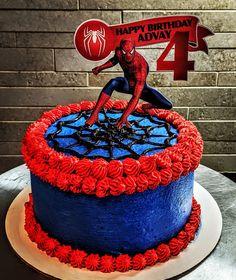 Drake's Birthday, Birthday Cakes, Birthday Ideas, Homemade Chocolate, Chocolate Cake, Cake Spiderman, Homemade Cakes, Grandkids, Cake Ideas
