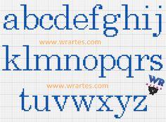 WR Artes (Blog do Wagner Reis): Alfabeto para Ponto Cruz iniciante