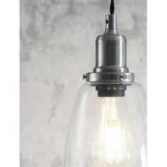 Trio of Hoxton Domed Pendant Light Glass Pendant Light, Glass Pendants, Dim Lighting, Pendant Lighting, Contemporary Pendant Lights, Ceiling Rose, Farmhouse Style Kitchen, Mason Jar Lamp, Light Fittings