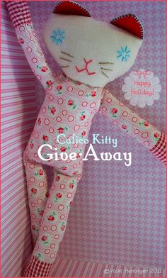Pinky Rose Calico Kitty