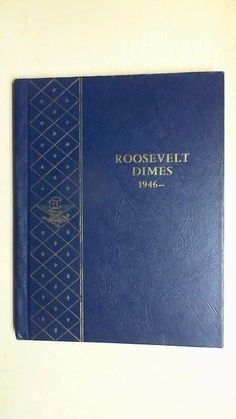 WHITMAN BOOKSHELF ALBUM FOR ROOSEVELT DIMES 1946- 1965D  COINS~VINTAGE  R8T1 #WHITMANBOOKSHELFALBUMCOPYRIGHT1969