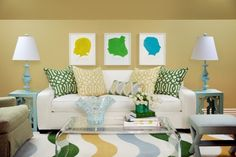 I love silhouettes and this example is great.  You can match the colour(s) to your decor.  Simple and clean looking.