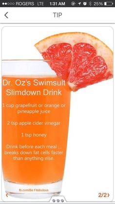Dr Oz's Weight Loss Drink :-- Drink this before every meal to increase FAT Metabolism.