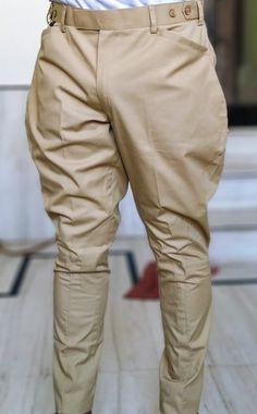 Men/women Equestrian Breeches Riding Jodhpuri Cotton Pants Khaki Breeches Jodhpurs Indian Breeches Pants - Men's style, accessories, mens fashion trends 2020 Indian Men Fashion, Mens Fashion Suits, Fashion Pants, Traje Casual, Mens Kurta Designs, Baggy Pants Outfit, Men's Casual Pants, Formal Pants, Casual Shirts