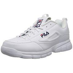 best service b8000 e39d8 Fila 1SX60022-166   Men s Disruptor SE Training Shoe, White Navy Red (12  D(M) US), Size  12D
