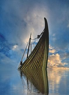 ~~Last viking ~ boat and waterscape, Iceland by olgeir~~
