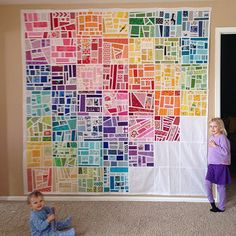 Interesting idea for a crazy quilt or mosaic-type quilt. I like how the color gradations are handled.