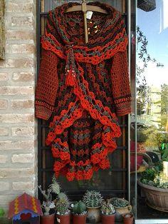 Crochet Wrap Pattern, Crochet Coat, Crochet Shirt, Form Crochet, Crochet Jacket, Crochet Cardigan, Crochet Clothes, Crochet Patterns, Crochet Fashion