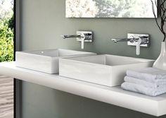 GIO Wand-Waschtischarmaturen Unterputz mit STRADA Aufsatz-Waschtisch 500mm