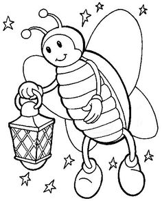 Free Prointable Fire Fly Insects Coloring Pages For Kidsprint Out Sheets Preschoolonline Activities Worksheets