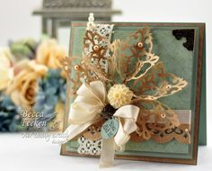 Spellbinders Filigree Damask Motifs Flower or Bouquet Tutorial