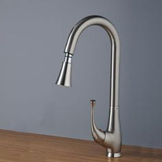 Nickel Brushed Single Handle Centerset Kitchen Faucet (T0760S)